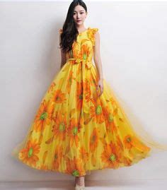 Cuin Flower Gamis Dress Maxi 1000 images about sunflower yellow brown wedding on sunflowers yellow and