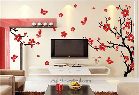 Cherry Blossom Wall Sticker cherry blossom tree wall stickers wallstickerdeal com