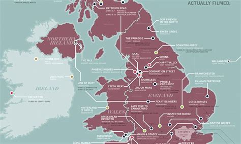 show map from new map of britain shows where all our favourite tv shows