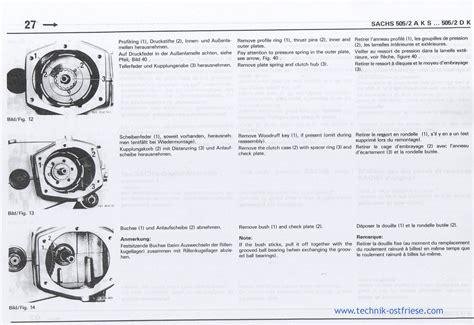Sachs Motor Kupplung Einstellen by Sachs 505 2 Motor Demontage Der Kupplung