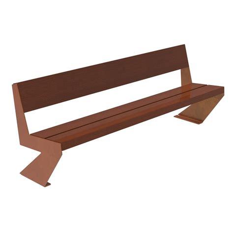 corten bench zenit wood bench corten legs urban furniture parks and gardens
