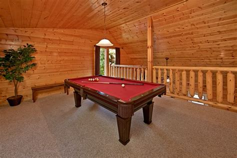 pool tables sevierville tn cabin near dollywood splash country and pigeon forge
