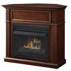 gas propane fireplace shop pleasant hearth 42 in dual burner vent free tobacco corner liquid propane or gas