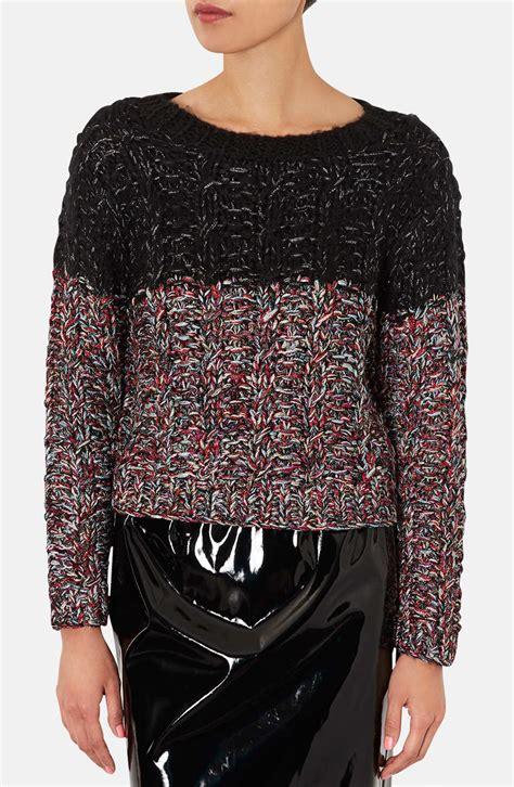 Sweater Topshop Topshop Metallic Knit Sweater In Multicolor Black Multi