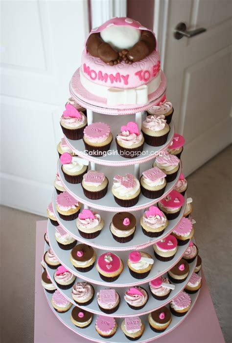 Cupcake Tower For Baby Shower by Baby Shower For Cupcake Tower Cakecentral