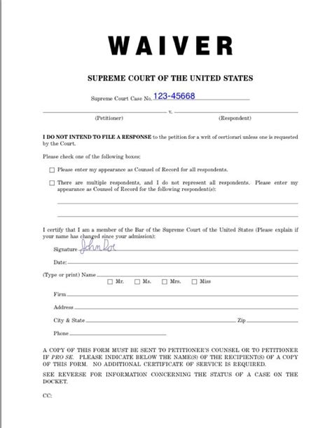 Of Washington Mba Gmat Waiver by Sle Waiver Form Printable Waiver Form