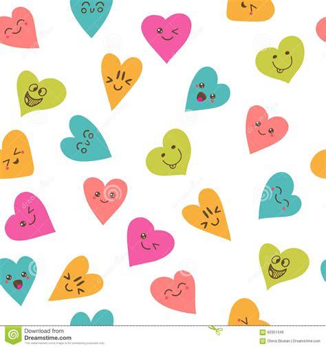 imagenes de corazones graciosos seamless pattern with smiley hearts cute cartoon