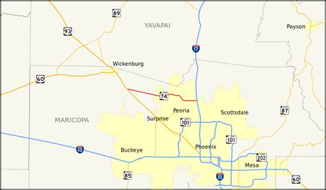 arizona highway conditions map file arizona state route 74 map svg