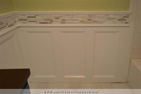 Wainscoting Tile Bathroom by Finished Recessed Panel Wainscoting Judges Paneling With