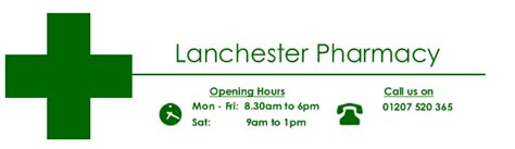 drugs hours lanchester pharmacy opening hours