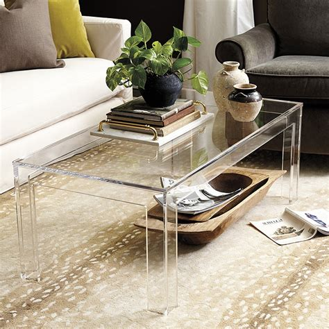 Ideas For Lucite Coffee Table Design Felicity Acrylic Coffee Table Ballard Designs