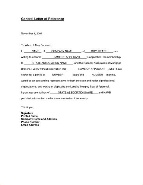 generic letter of recommendation template 15 general letter of recommendation academic resume