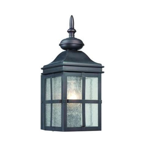outdoor lights at home depot hton bay 1 light hawthorne bronze outdoor wall mount