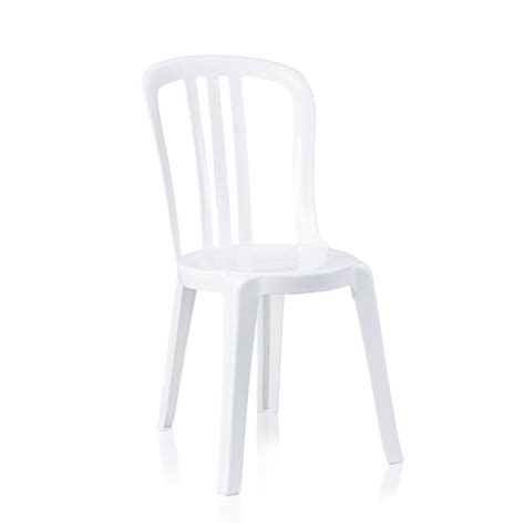 White Chairs For Hire by White Bistro Chair Hire