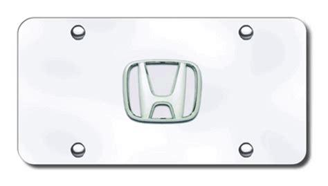 License Plate Vanity Generator by Honda License Plates Vanity Logo Tags All Chrome