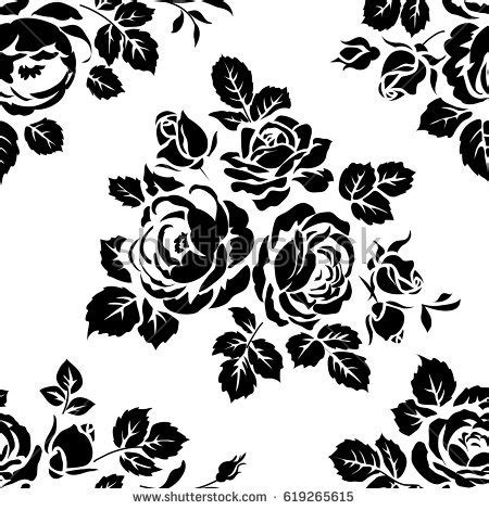 pattern silhouette vector floral silhouette stock images royalty free images