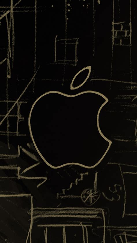 Iphone 5s Car Wallpapers Hd by Apple Logo Sketch Iphone 5s Wallpaper Iphone