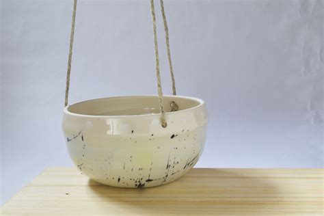 handmade ceramic hanging planter indoor hanging planter