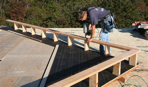 lookout flat roof framing raising gable walls thisiscarpentry