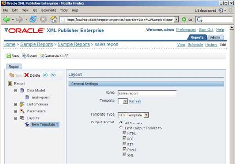 multi layout report xml publisher oracle build an online reporting application using oracle xml