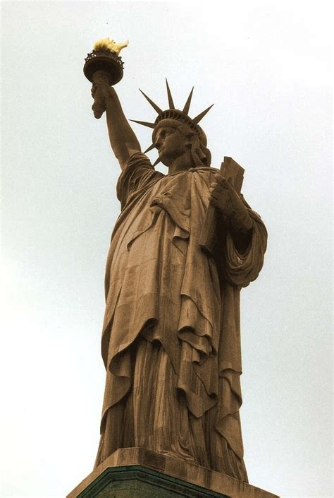 original color of the statue of liberty power wash the statue of liberty to return it back to it s