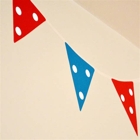 bunting wall stickers bunting wall stickers by oakdene designs