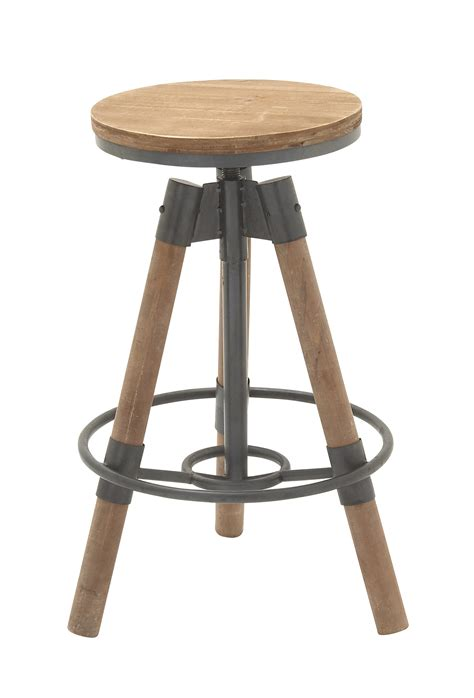 Wood And Metal Stool by Saapni Durable Wood Metal Bar Stool 14910