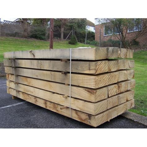 Oak Sleepers Kent sleepers new untreated oak railway sleepers 250mm x 125mm x 2 4m