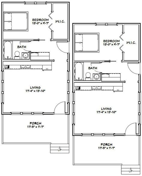 540 sq ft floor plan 18x30 tiny houses 540 sq ft pdf floor plans