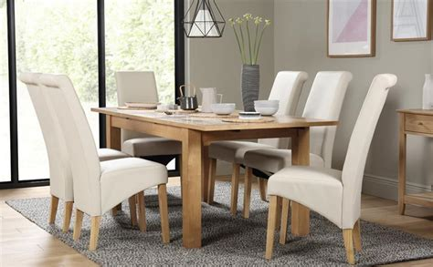 Dine And Recline Richmond Va by Hamilton 150 200cm Oak Extending Dining Table With 6