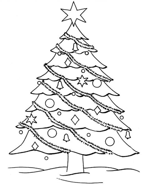 giant christmas tree coloring page only coloring pages