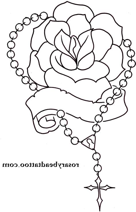 praying hands with rosary beads tattoo designs praying with cross drawing at getdrawings free