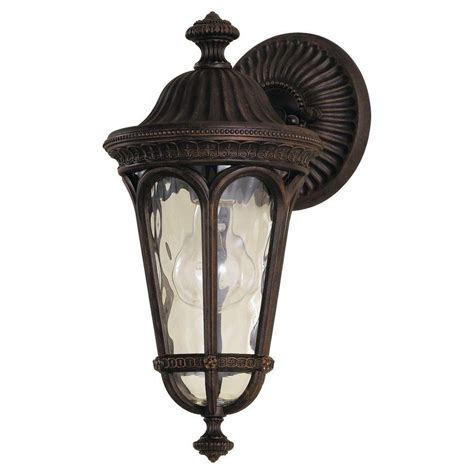 Regent Outdoor Lighting Home Decorators Collection Port Oxford 1 Light Rubbed Chestnut Outdoor Wall Lantern 23212