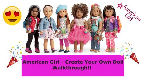 american doll design your own american girl create your own doll walkthrough youtube