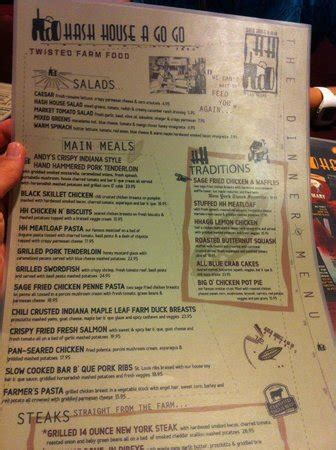 Hash House A Go Go Prices by Menu Picture Of Hash House A Go Go Las Vegas Tripadvisor