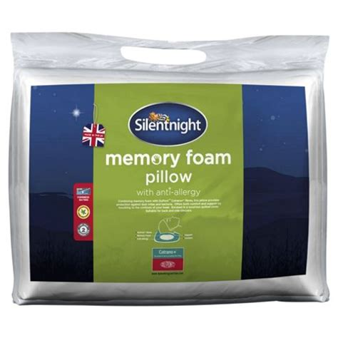 Tesco Memory Foam Pillow by Buy Silentnight Dupont Memory Foam Anti Allergy Pillow