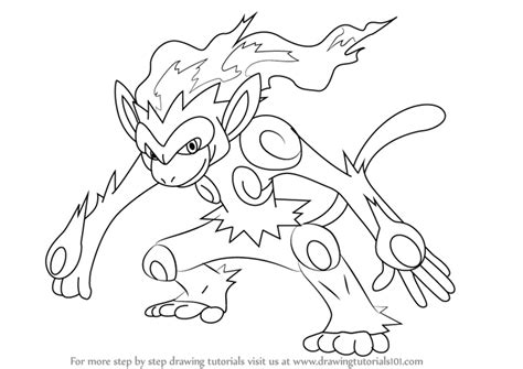 pokemon coloring pages infernape learn how to draw infernape from pokemon pokemon step by