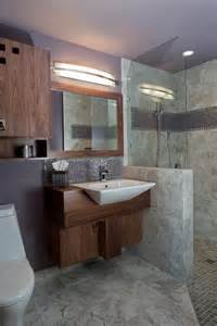 Lavender And Gray Bathroom - lavender midcentury modern bathroom with gray marble tile