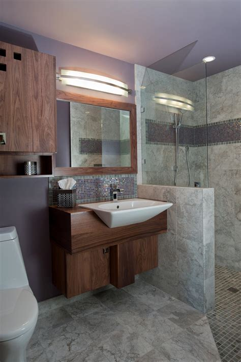 gray and lavender bathroom lavender midcentury modern bathroom with gray marble tile