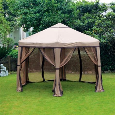 10 X 18 Gazebo Outdoor 10 X 12 Ft Hexagon Gazebo W Netting Easy To