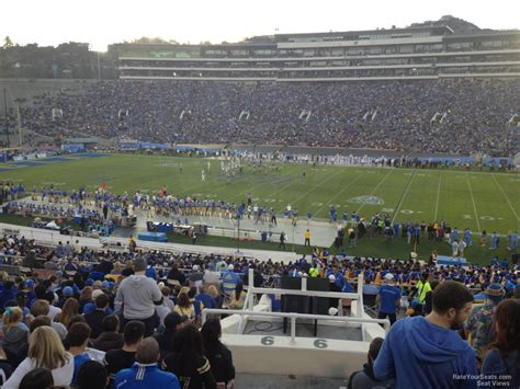 section six football rose bowl stadium section 6 ucla football