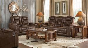 rooms to go living rooms eric church highway to home chief brown 3 pc living room