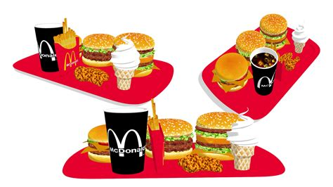 [MMD] McDonald's food by ScarlettAckerman on DeviantArt