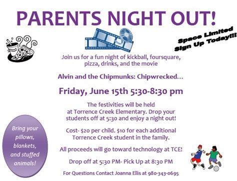 parent flyer templates parents out pdf torrence creek elementary pta