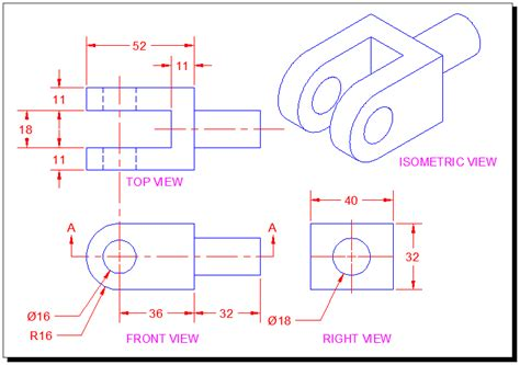 section line in drawing section views tutorial in autocad with video