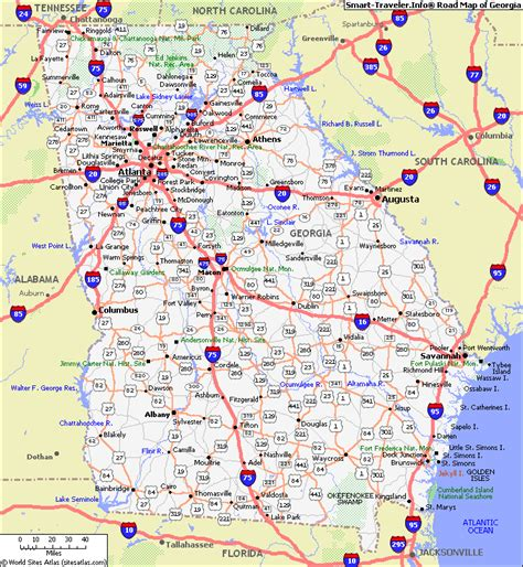 ga map map with cities map of click now for city maps places to go and many
