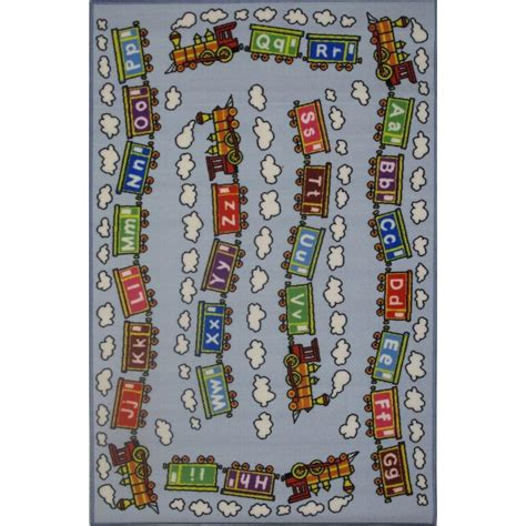 la rug fun time edu train multi colored 39 in x 58 in