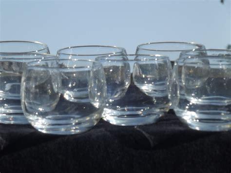 Bar Glass 8 Roly Poly Rocks Glasses Retro Mid Century Vintage Bar