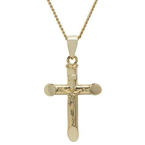 gold silver mens crucifix pendant