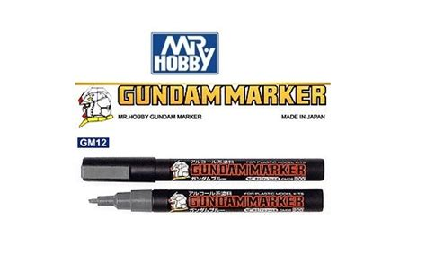Gundam Marker Grey Gm12 mr hobby gunze gm12 gray grey gundam marker pen painter
